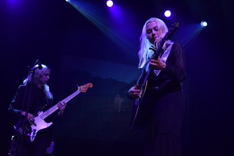 Phoebe Bridgers injected humor into her otherwise melancholy set. - MADELINE WELLS