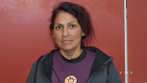 Yolanda Frausto said the CHP should've taken her son to the hospital. - PHOTO BY DANIEL LEMPRES