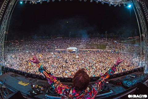 Liquid Stranger at Bass Canyon - PHOTO COURTESY OF @OHDAGYO