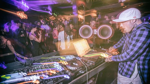 Past Sub Society events took place in San Francisco, featuring DJs like Tiger Fresh. - PHOTO COURTESY OF JOSHUA LEE