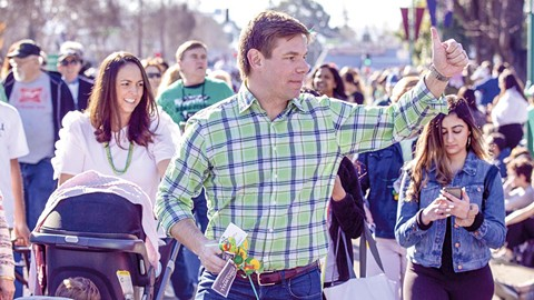 Rep. Swalwell appears each year at the Dublin St. Patrick's Parade - PHOTO BY D. ROSS CAMERON