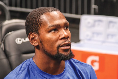 Kevin Durant's long-term whereabouts will be resolved this summer. - PHOTO BY CYRUS SAATSAZ CC