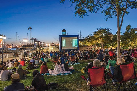 Waterfront Flicks at Jack London Square.