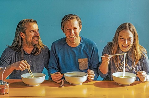 Eric Wolfinger, Caleb Zigas, and Leticia Landa collaborated on the new cookbook. - PHOTO BY ERIC WOLFINGER
