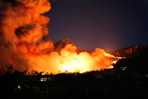 The Kincade Fire raged on over the weekend while other conflagrations popped up closer to the East Bay, including Lafayette - WIKIMEDIA COMMONS