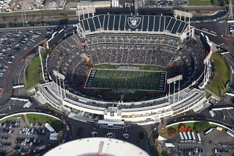 The entire Oakland Coliseum complex covers roughly 155-acres. - FILE PHOTO