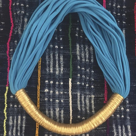 The Gold Wrap Statement Necklace.