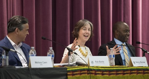 State Sen. Nancy Skinner, center. - STATE SENATE