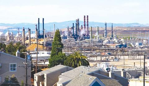 Chevron Richmond oil refinery. - MAYA SUGARMAN
