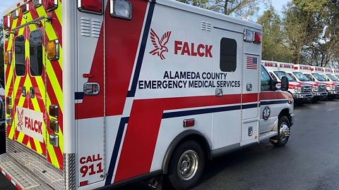 Falck has been Alameda County's 911 ambulance provider since July 2019.