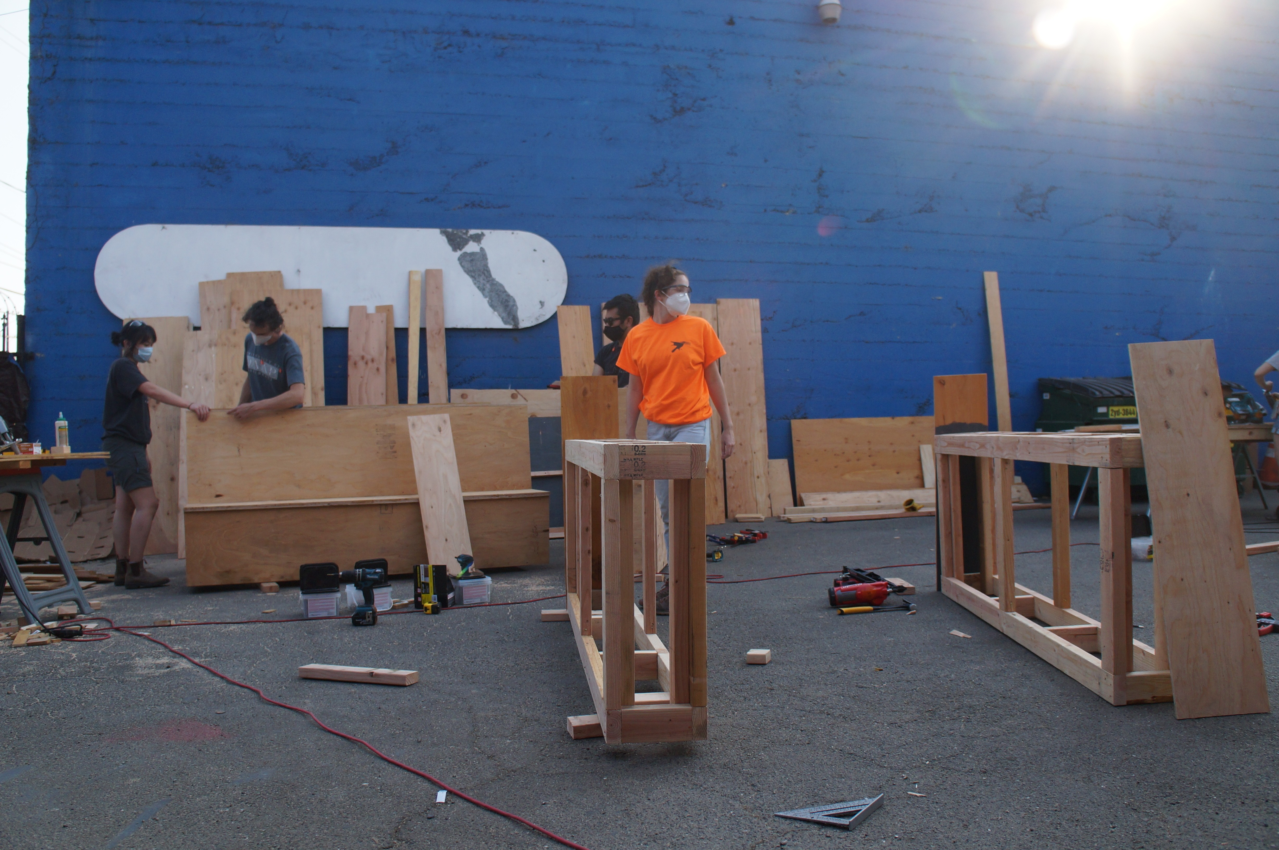UCB Architecture grads build parklets for La Frontera - OAKLAND INDIE ALLIANCE
