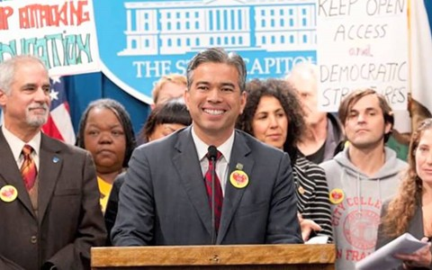 Oakland Assemblymember Rob Bonta was sworn-in on Monday for a fifth term in the Legislature, but higher office remains a possibility soon. - FILE PHOTO