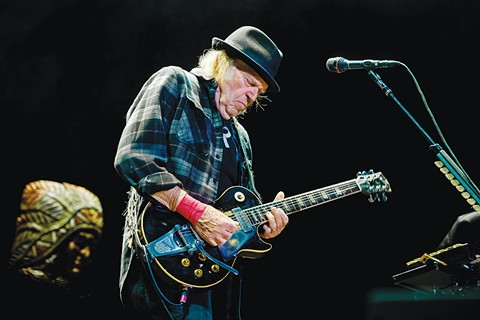 ROCKIN' IN THE WEED WORLD:  Chemical juggernaut Monsanto sought to discredit rocker Neil Young, who released a 2015 record, 'The Monsanto Years.' - PHOTO BY BEN HOUDIJK