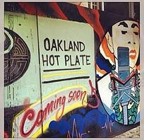 The exterior of Oakland Hot Plate shortly the performance venue opened. - OAKLAND HOT PLATE