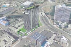 UrbanCore's proposed luxury apartment tower.