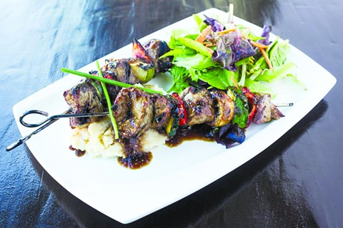 Beef skewers, courtesy of Straw.