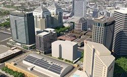 Strada's proposed fourteen-story apartment tower and hotel in downtown Oakland. - STRADA INVESTMENT GROUP