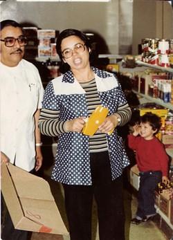 Antonio and Natividad Ramos — Tina's parents — at La Borinqueña in 1977. - LA BORINQUEÑA