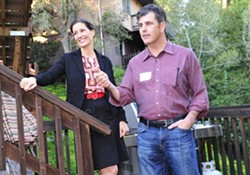 Libby Schaaf and John Protopappas at a 2014 fundraiser. - FACEBOOK