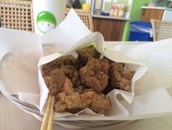 Boba shops such as Mr. Green Bubble are the most likely purveyors of popcorn chicken. - LUKE TSAI