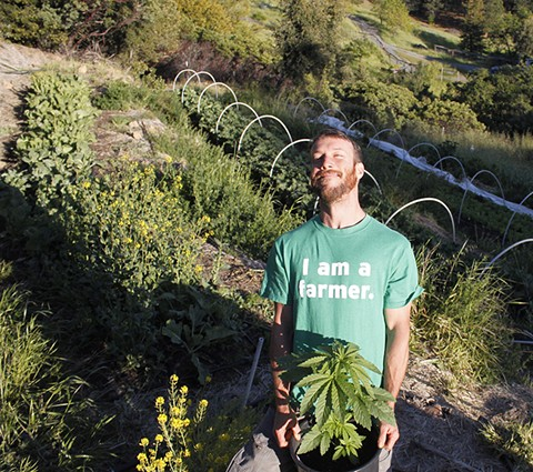 Weed farmers like Casey O'Neill  have a deep respect for the environment. - ADRIAN FERNANDEZ BAUMANN