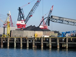 The Levin-Richmond Terminal, a private port facility in Richmond, where Bowie Resource Partners currently exports Utah and Colorado coal. - COURTESY OF BAYKEEPER