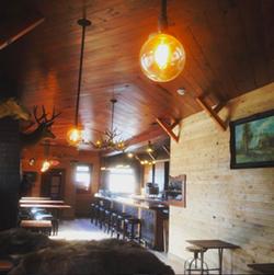 The interior of The Lodge (via Instagram @tastyspoon).
