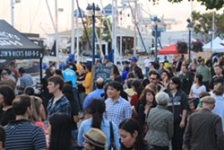 Last year's Eat Real Festival brought hundreds of thousands of visitors to Jack London Square. - ROB LEVY