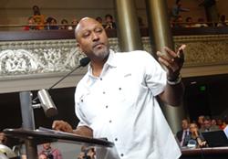 Derrick Muhammad, business agent for ILWU Local 10. - DARWIN BONDGRAHAM