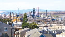 Richmond's Chevron refinery.