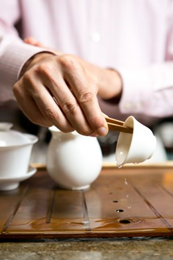 At the Teance tea bar, a tasting requires detailed preparation. - BERT JOHNSON