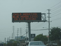 "Highway signs will now display hit-and-run ""yellow alerts."" - WIKIMEDIA COMMONS / BOB BOBSTER"