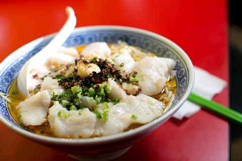 Noodle Fresh's Sichuan Chili Fish. - BERT JOHNSON