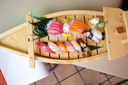 The nigiri & sashimi combo. - BERT JOHNSON