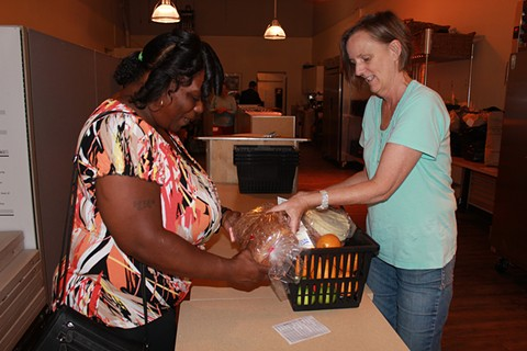 At Project Open Hand's Oakland grocery store, volunteers give out fresh food - PROJECT OPEN HAND