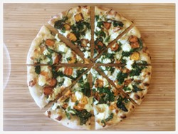 California style, with butternut squash, roasted garlic, and kale. - PIZZA MATADOR