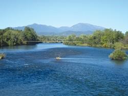 The Sacramento River.