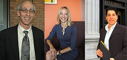 From left to right, councilmembers Dan Kalb, Annie Campbell Washington, and Rebecca Kaplan. - COURTESY CITY OF OAKLAND.
