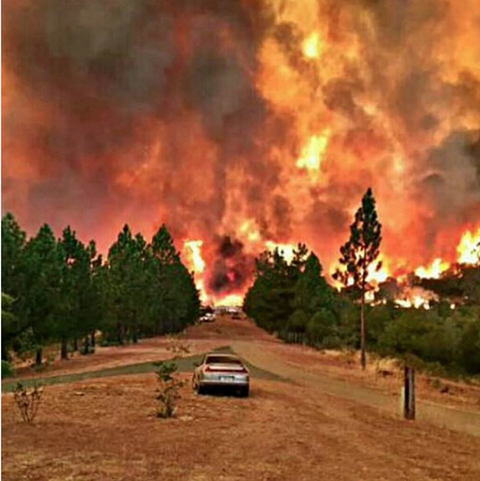 The Butte County inferno of 2015. - (VIA INSTAGRAM)