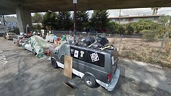 A homeless camp on 36th Street near Martin Luther King, Jr. Way that was closed in 2015. - GOOGLE STREET MAP