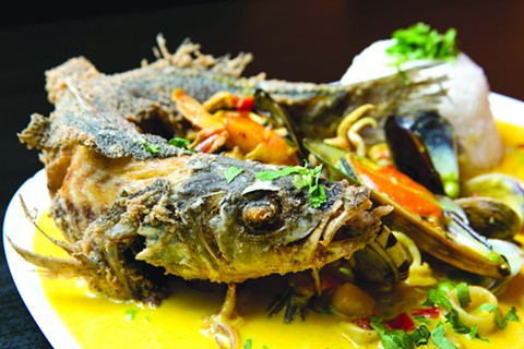 The pescado a lo macho rewards the patient diner. - BERT JOHNSON/FILE PHOTO