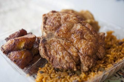 Borinquen Soul's pork chop. - ERIN BALDASSARI