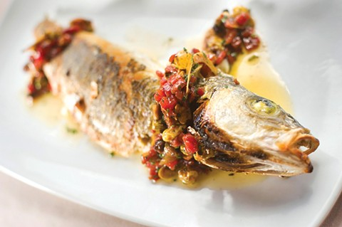The whole roasted branzino was simply prepared but remarkably tasty. - CHRIS DUFFEY/FILE PHOTO