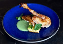 Chef Marcus Krauss's roast poussin. - SALSIPUEDES