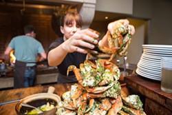 Wood-grilled crab at Camino. - BERT JOHNSON/FILE PHOTO