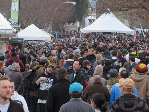 More than 15,000 attendees flocked to The Emerald Cup each day in December. Contest screenings tighten up in 2016. - DAVID DOWNS