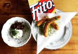 Frito pie churros. - JOURNEYMEN
