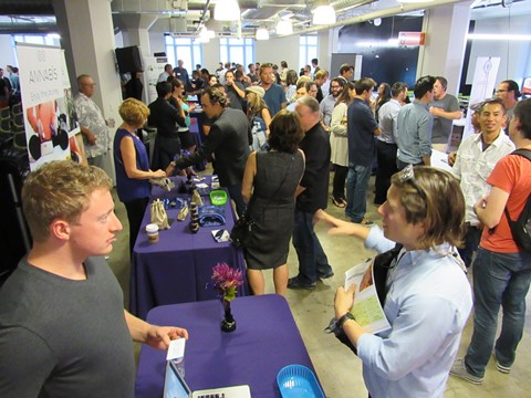 A cannabis investing event in the Twitter building in San Francisco in 2015 lacks diversity. - DAVID DOWNS