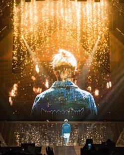Justin Bieber in concert.