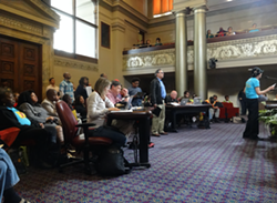 Dozens of speakers told the council's CED committee that redefining affordable housing is a bad idea. - DARWIN BONDGRAHAM